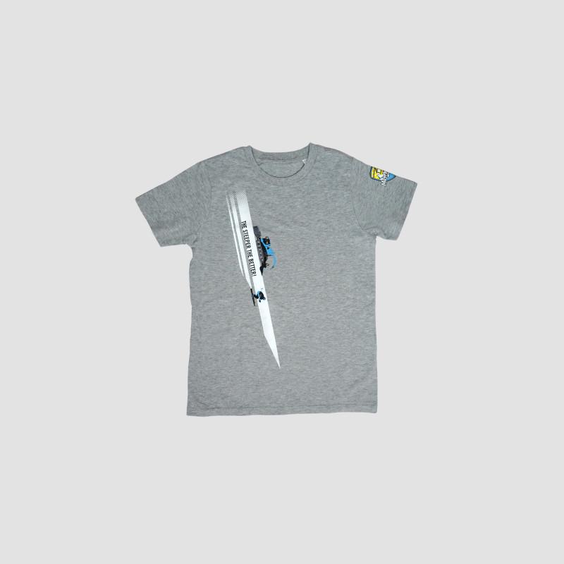 Harakiri kurzarm Shirt Kinder grau