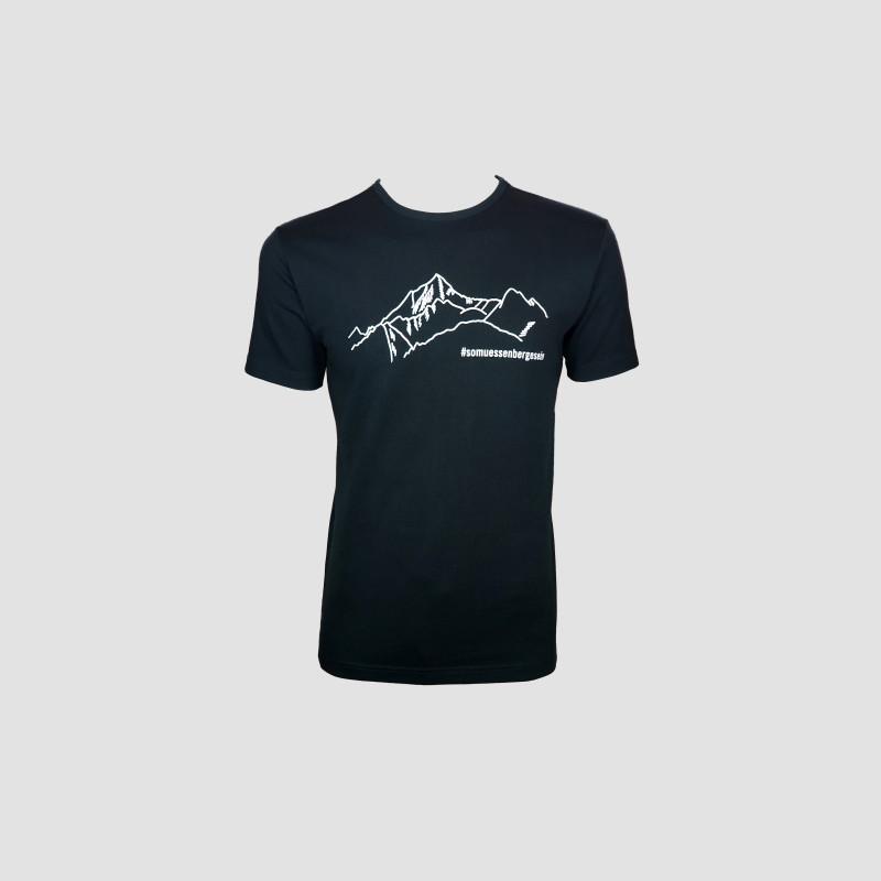 """T-Shirt """"So müssen Berge sein"""" schwarz"""