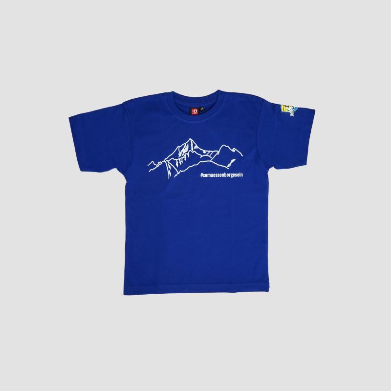 "T-Shirt ""So müssen Berge sein"" Kinder königsblau"