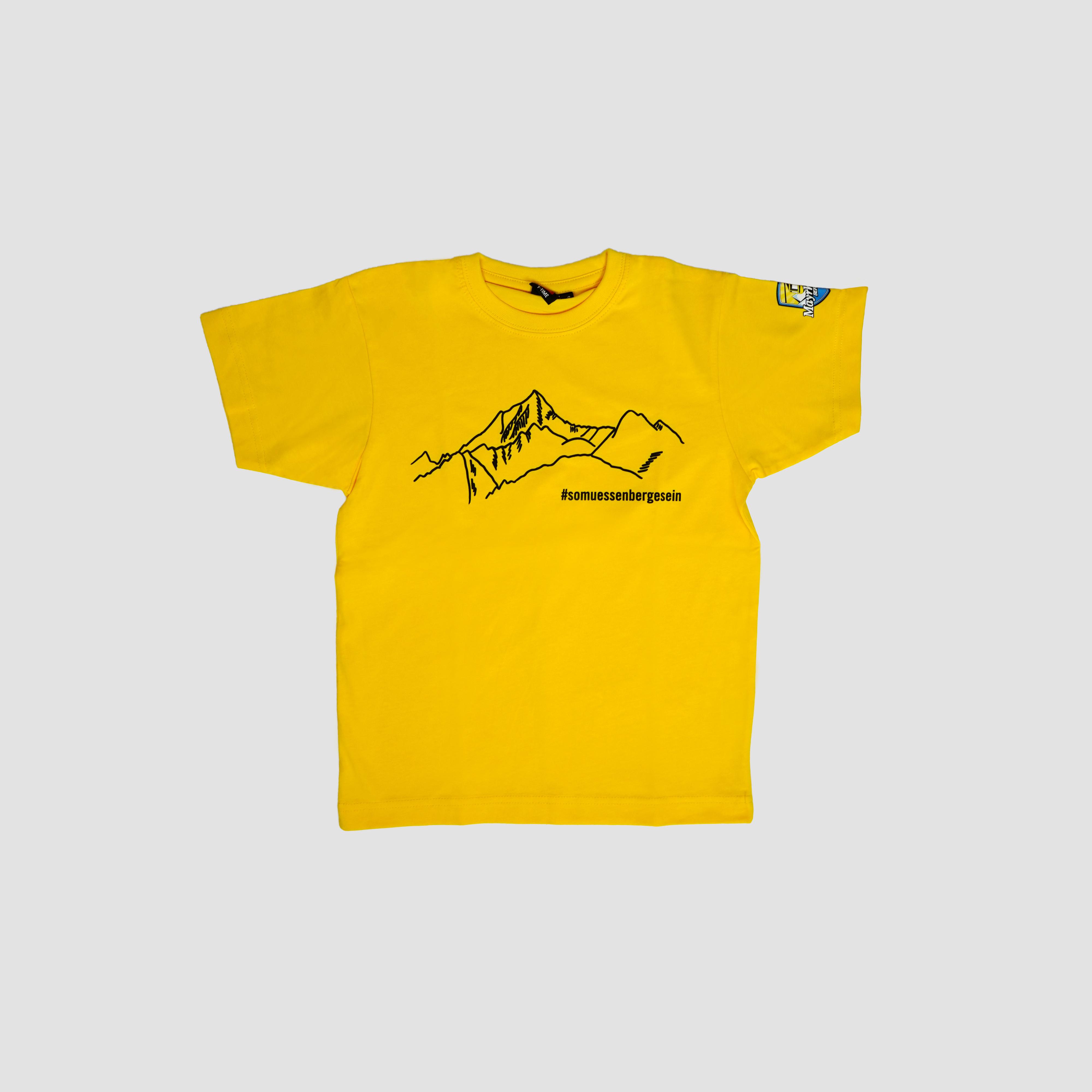 "T-Shirt ""So müssen Berge sein"" kids yellow"