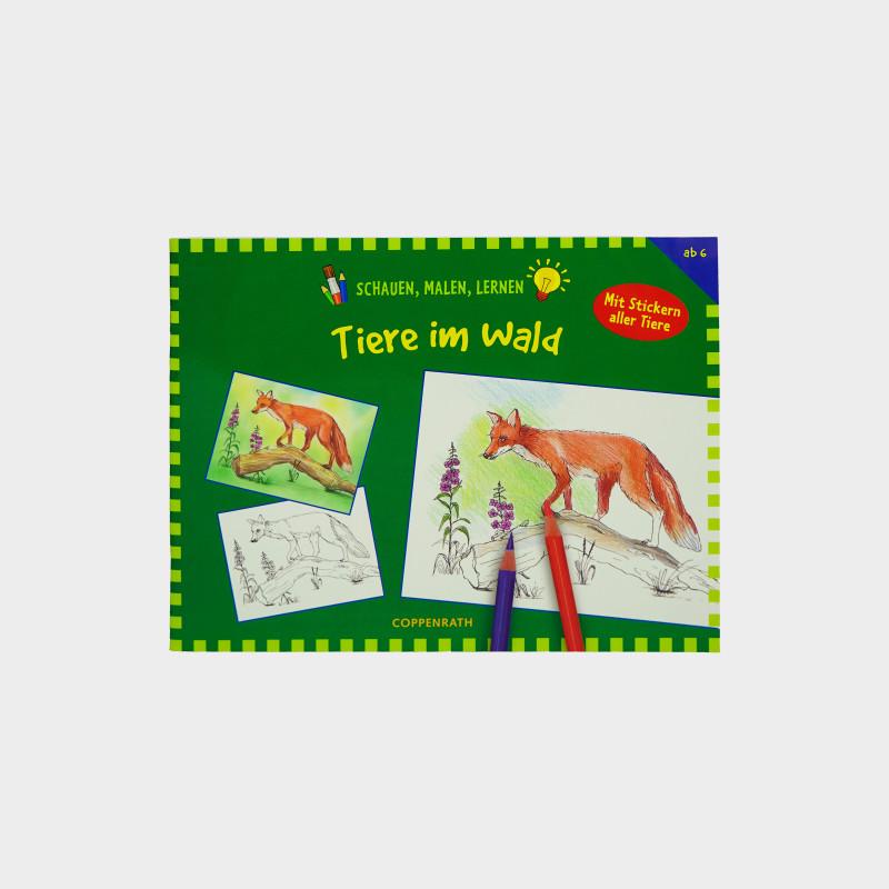 Malbuch - Tiere im Wald